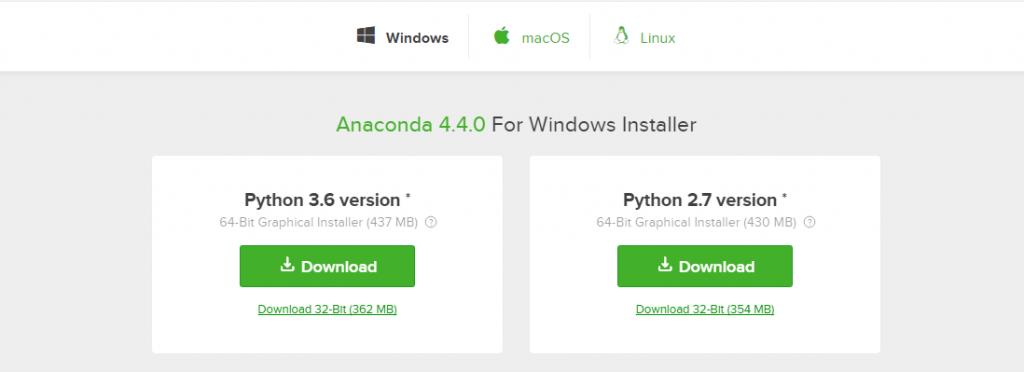 anaconda versions